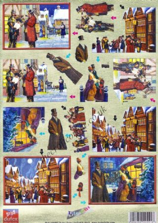Christmas Victorian Street Scenes Die Cut 3d Decoupage From Dufex